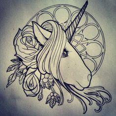 Fun unicorn drawing I did for a fellow artist