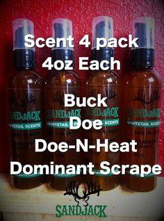 Scent 4 Pack - 4 oz SandJack Deer Scents - Best Buy