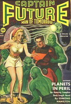 I've started reading my second of these mad science fiction tales and I'm really enjoying what they have to offer. Pulp Fiction Comics, Science Fiction Books, Book Cover Art, Comic Book Covers, Sci Fi Comics, Classic Sci Fi, Sci Fi Books, Comic Books, Pulp Magazine