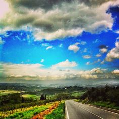 Country roads.. #igersfirenze #landscape #invitingroads #clouds #sky | by antoncino