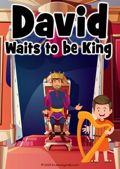 David Waits to be King - Preschool Bible lesson - Trueway Kids Preschool Bible Lessons, Bible Activities For Kids, Bible Stories For Kids, Bible Games, Bible Study For Kids, Bible Lessons For Kids, Children's Bible, Kids Bible, David Bible