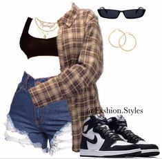 Swaggy Outfits, Baddie Outfits Casual, Cute Swag Outfits, Cute Comfy Outfits, Dope Outfits, Teen Fashion Outfits, Retro Outfits, Stylish Outfits, Girl Outfits
