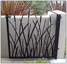 wrought iron gates and railings - Modern Wrought Iron Garden Gates, Metal Gates, Gates And Railings, Stair Railing, Iron Railings, Tor Design, Gate Design, Front Gates, Entrance Gates
