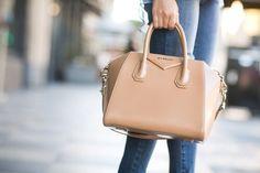 0782fb81e25e Givenchy Signature  Antigona Small Leather Satchel in Beige  Givenchy   Fashion  Handbags