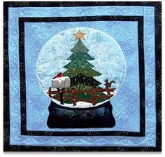 "Quilt Inspiration: 'Tis the Season: ""Let it Snow"" mini quilt by Deb Madir"