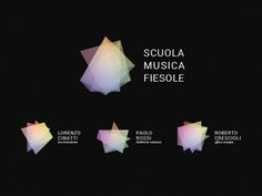 Logo generated via musical chords. Like the layers of transparency/gradient. Scuola Musica Fiesole - Generative Logo by Guglielmo Torelli, via Behance
