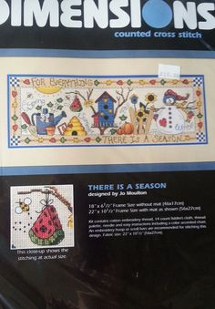 Jo Moulton Design There is a Season Counted Cross Stitch Kit Dimensions 3862 NEW #Dimension #Frame