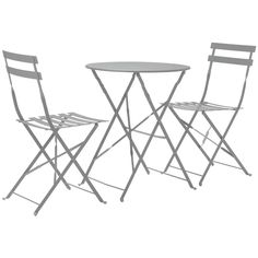 Buy Argos Home Eve Folding 2 Seater Metal Bistro Set - Sage at Argos. Thousands of products for same day delivery or fast store collection. Metal Garden Table, Garden Dining Set, Garden Table And Chairs, Table And Chair Sets, Outdoor Dining, Outdoor Chairs, Garden Furniture, Outdoor Furniture Sets, Comfort Design