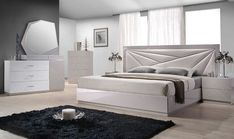 Florence Modern Leatherette Platform Bedroom Set within proportions 1555 X 1110 J&m Furniture Florence Bedroom Set - A great deal with the population Contemporary Bedroom Sets, Modern Master Bedroom, Modern Bedroom Furniture, Bed Furniture, Contemporary Design, Furniture Design, Accent Furniture, Furniture Stores, Asian Furniture