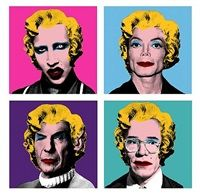 Warhol Wig Series Manson, Michael Jackson, Spock, Andy Warhol by Mr. Brainwash