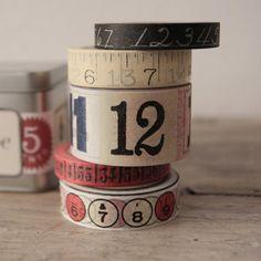 Washi Tape - Vintage Numbers (5 cintas)