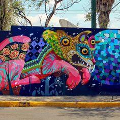 StreetArtNews | Gleo & UnoNueve collaborate on a new mural in Mexico City