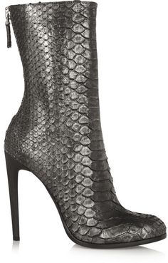Haider Ackermann Metallic python ankle boots on shopstyle.com