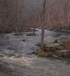 Spring Flood, oil on linen, 26 x 24 in. - T. Allen Lawson