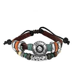 Bling Jewelry Round Disc Stud Bali Flower Zen Surf Leather Wrap... ($14) ❤ liked on Polyvore featuring jewelry, bracelets, brown, beaded wrap bracelet, brown leather bracelet, cord bracelet, pandora graduation charm and beads & charms