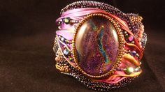 Hey, I found this really awesome Etsy listing at https://www.etsy.com/listing/223713264/shibori-silk-dichroic-embroidery-cuff