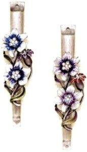 Gemstone Flowers Mezuzah. So delicate and pretty. :)