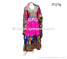 pakhtoon women long gown with scarf
