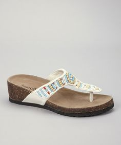 Take a look at this White Maaza Sandal by Bucco on #zulily today!