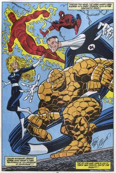 The Fantastic Four and Spider-Man by Erik Larsen