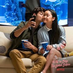 Image discovered by Sick Sad World♡. Find images and videos about couple, movie and netflix on We Heart It - the app to get lost in what you love. Lara Jean, Movie Couples, Cute Couples, Love Movie, I Movie, Films Netflix, Peter K, Jean Peters, Jenny Han