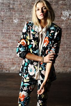 Bad-ass blooms...Pencey Standard floral suit.