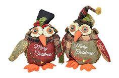 Merry Christmas Owl Decorations in Plaid Print Scarves wi... https://www.amazon.com/dp/B0174XPAB4/ref=cm_sw_r_pi_dp_wQDHxbZKYQGSA
