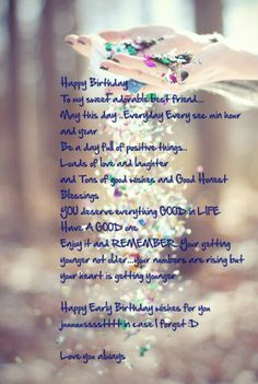 Long birthday messages for a best friend happy birthday wishes for your birthday starts from today m4hsunfo