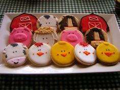 #Farm #Themed #Cookies. Click to view some beautiful cakes for your farm themed party.