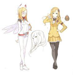 Schoolgirl and Super Hero alterego Design