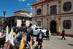 Pope Francis waves to people as he arrives to the Cathedral in San Cristobal de las Casas, Mexico, Monday, Feb. 15, 2016. Francis is celebrating Mexico's Indians on Monday with a visit to Chiapas state, a center of indigenous culture, where he will preside over a Mass in three native languages thanks to a new Vatican decree approving their use in liturgy. The visit is also aimed at boosting the faith in the least Catholic state in Mexico. Photo: Moises Castillo, AP / AP