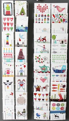Set of 12  postcards  mix and match by syko on Etsy, €11.00