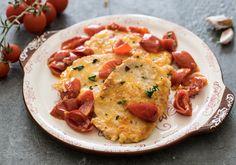 Lonza+di+maiale+scaloppata+con+pomodorini