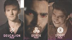 Teen Wolf - Pack of Derek, Scott and Deucalion by ~TeenWolfInstinct on deviantART
