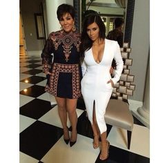Kris and Kim looking glam!