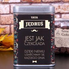 Personalizowana czekolada do picia DLA TATY idealny na urodziny