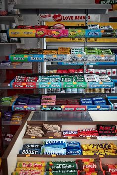 Lucy Sparrow's Felt Corner Shop art installation, Wellington Row, Bethnal Green, London. Look closely--every item in photo is made of felt!