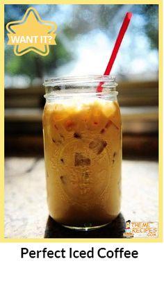 Perfect Iced Coffee... Love iced coffee's!
