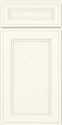Door Detail - Holace Square (AA6M4) Maple in Dove White - KraftMaid Cabinetry