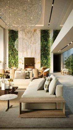 Asian Interior Design, Estilo Interior, Contemporary Interior Design, Natural Modern Interior, Modern Luxury, Interior Design Living Room, Living Room Designs, Modern Living Room Design, Modern Home Design