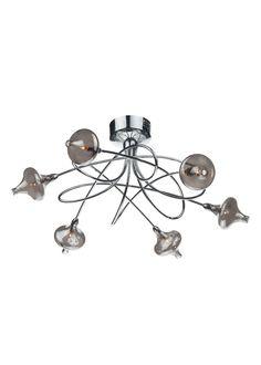 Rachelle 6 Light Semi Flush Ceiling Light | PAGAZZI Lighting