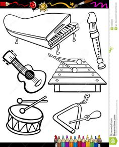 Music Coloring Pages for Kids - Music Coloring Pages for Kids , the 11 Best Music themed Coloring Books for Kids and Music Lessons For Kids, Music For Kids, Preschool Music, Music Activities, Cute Coloring Pages, Coloring Books, Musical Instruments Drawing, Music Drawings, Music Worksheets