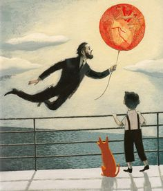 Art by Isabelle Arsenault from Mr. Gauguin's Heart.