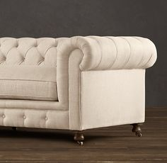 """Linen or leather...it""""s a great couch"""