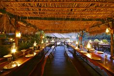 The River Kwai Jungle Rafts' restaurant will welcome all guests for breakfast, lunch and dinner.  #Restaurant #Kanchanaburi #Thailand