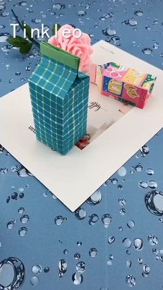DIY Sugar Box Gift - A gift for someone you like! Use paper to make the sugar box, as a gift to your friends, lovers! Diy Crafts Hacks, Diy Crafts For Gifts, Diy Home Crafts, Diy Arts And Crafts, Creative Crafts, Fun Crafts, Diy Para A Casa, Paper Crafts Origami, Oragami