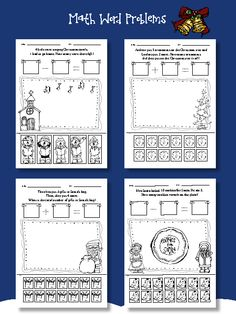 Christmas math centers! Includes 20 engaging math word problems - All cut&paste fun! $