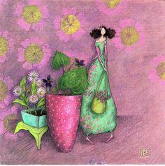 My Correspondances, Nina Chen, Mila Marquis collection - - Álbumes web de Picasa Art And Illustration, Illustrations, Marie Cardouat, Papyrus Cards, Art Carte, Creation Art, Art Moderne, Art Themes, French Artists