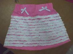 corte de faldas para niñas