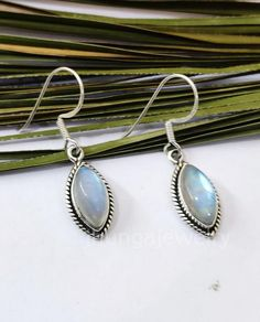 Rainbow Moonstone Earring Sterling Silver June Birthday Marquise Earring Boho Earring Vintage Earring Bridesmaid Gift Classic Earring Gift Moonstone Earrings, Boho Earrings, Vintage Earrings, Sterling Silver Earrings, 925 Silver, Bridesmaid Earrings, Bridesmaid Gifts, Rainbow Moonstone, June